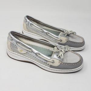Sperry Top-sider Angelfish Grey Silver Boat Shoes